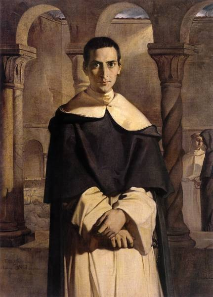 Portrait of the Reverend Father Dominique Lacordaire of the Order of the Predicant Friars 1840